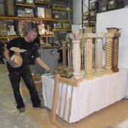 Gedrechselte Und Gewundene Säulen Von Ingemar, Hergestellt Mit Kopiermaschine HDK1600 Und KoWi100